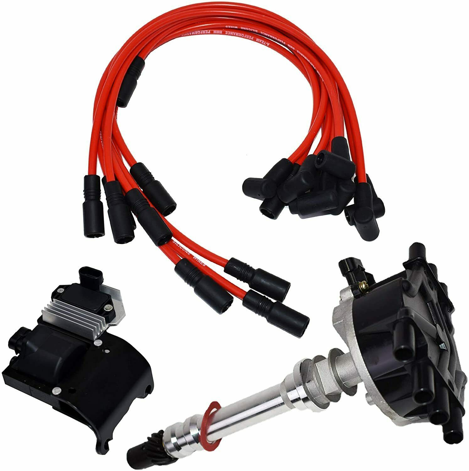 95-07 V6 Chevy GMC VORTEC Distributor Plug Wires Ignition Coil & Module 4.3L 262