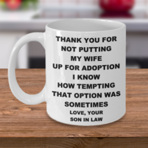 Wedding Gift For Father Of Bride Father Mother In Law From Son In Law Coffee Mug - $14.95