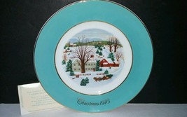 Avon Christmas Plate 1973 Christmas on the farm by Enoch Wedgwood - $14.01