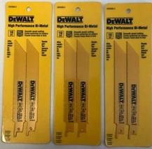 """DeWALT DW4806-2  6""""x10 TPI Bi-Metal Metal / Wood Recip Saw Blades 3pks o... - $5.94"""