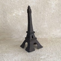 "RUSTIC 8""x3"" Cast Iron EIFFEL TOWER Table Decor BROWN Paris FRANCE Cente... - $15.99"