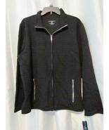 NWT Karen Scott Quilted Fleece Jacket Zipper Deep Black M XL Org $46.50 - $16.79