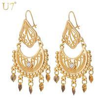 Ethnic Earrings Indian Jewellery Classic Dangle Party Gift Rhinestone Ta... - $24.65 CAD