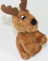 Kurt S. Adler Brown Reindeer w/ Green Bow Stuffed Plush Christmas Ornament Toy - $10.39
