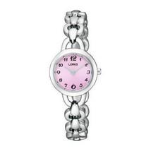 Lorus Women's Watch Ladies Stainless Steel Chain Bracelet Pink Dial RRW3... - $91.94