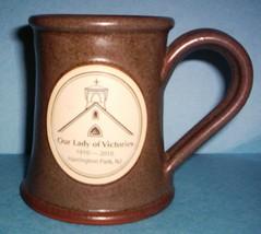 DENEEN POTTERY MUG OUR LADY OF VICTORIES (1910-2010) HARRINGTON PARK, NJ   - $19.95