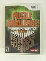 Puzzle Challenge Crosswords and More (Nintendo Wii, 2009) CIB, USA SELLER image 2