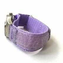 Vintage Swerve Women's Silver Purple Nylon Strap Watch Fresh Battery EXCELLENT! image 3