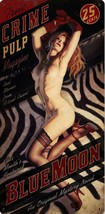 Blue Moon Crime Pulp Nude Red Head Pin Up Metal Sign Greg Hildebrandt - $40.00