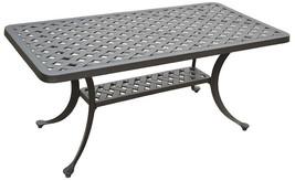 Nassau coffee table patio side outdoor cast aluminum backyard furniture image 1