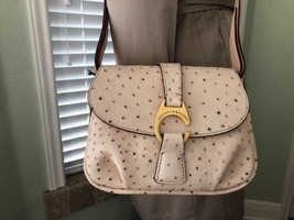 Dooney & Bourke Derby Ostrich Collection Small Flap Cross-Body Bag Color... - $145.99