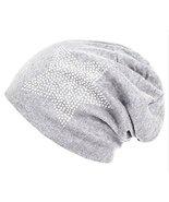 Unisex Men Women Classic Star Rhinestone Slouch Beanie Cap Cotton Hat Li... - $23.71