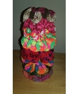 Crochet Hair Scrunchies/Solid Variety Colors/8 - $16.00