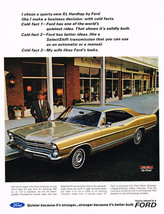 Vintage 1967 Magazine Ad Ford Facts Quiet Better Ideas & My Wife Likes The Looks - $5.93