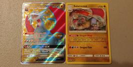 Salamence GX SM139 + Salamence SM140 Promos from Dragon Majesty Collecti... - $7.99