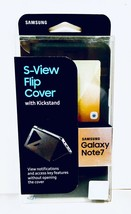 Genuine OEM Samsung Galaxy Note F7 S-View Flip Cover Kickstand Case Blac... - $14.84