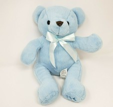 "13"" TOYS R US 2016 BABY BLUE MY FIRST TEDDY BEAR W BOW STUFFED ANIMAL PL... - $52.40"