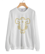 Black Bull the Magic Knight Squad Black Clover Sweater Sweatshirt WHITE - $30.00