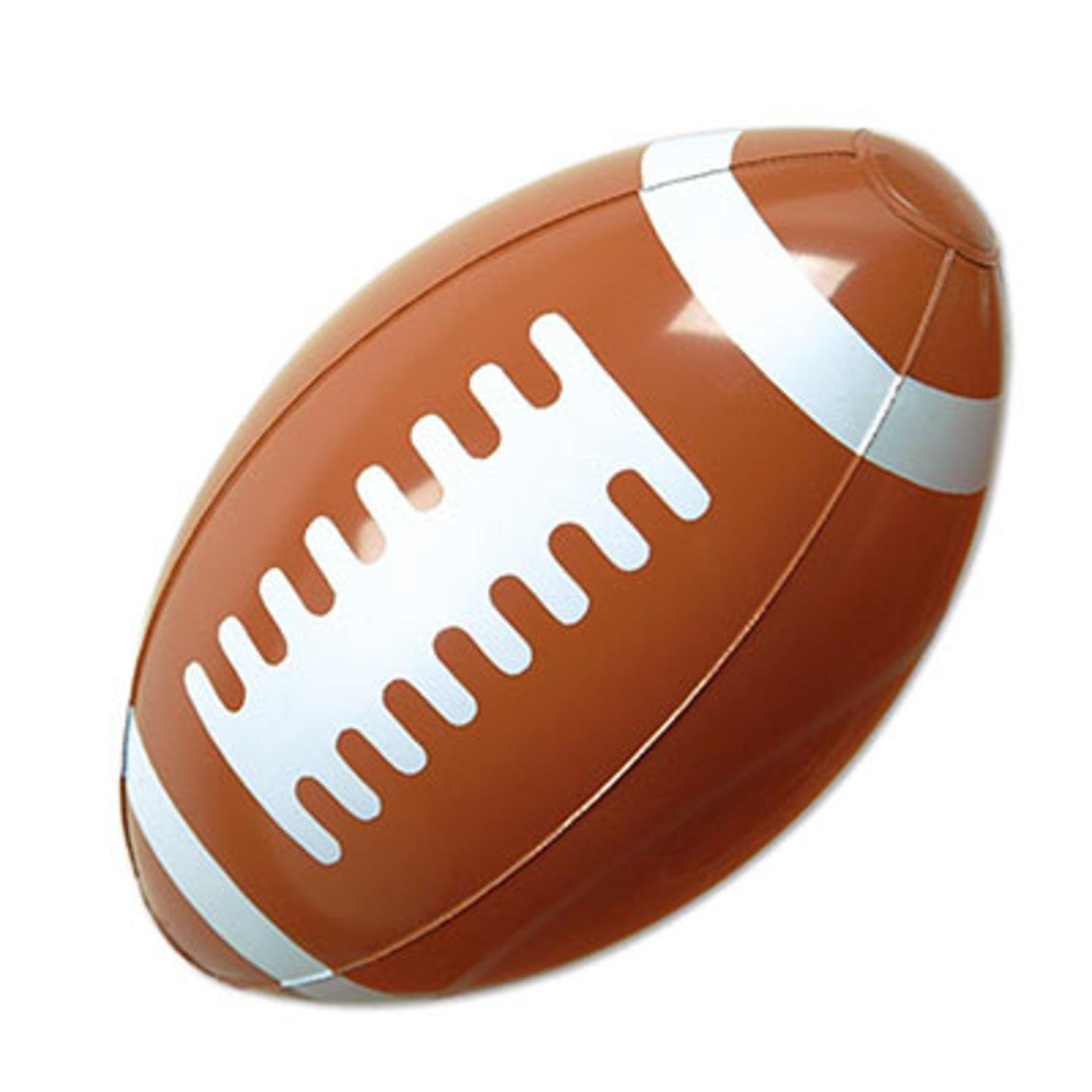 Club Pack of 12 Brown and White Inflatable Football Superbowl Party Decorations