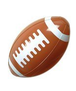 Club Pack of 12 Brown and White Inflatable Football Superbowl Party Deco... - $41.57