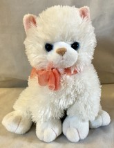 "2005 Ty Beanie Buddies 10"" Fancy The Kitten Cat White Fluffy Blue Eyes P... - $16.41"