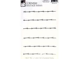 Cornish Heritage Farms Barbed Wire Backgrounder Rubber Stamp #SL-2727WUM
