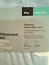 Made By Design Solid Easy Care Pillowcase Set (King) Light Blue - NEW! STORE image 4