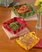 Stoneware Bakeware Set Ceramic Cookware Casserole Set Handles Dishwasher... - $44.00