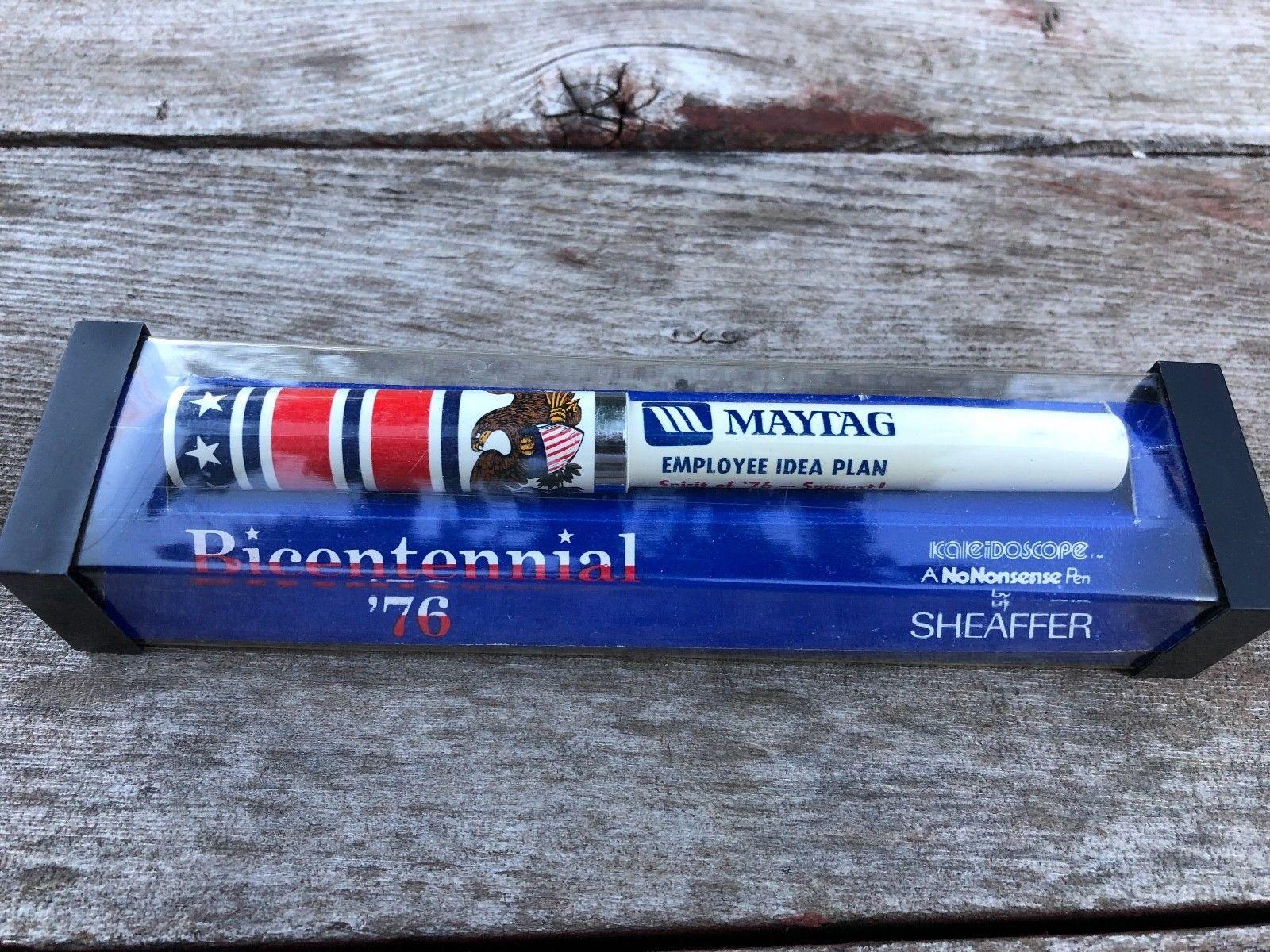 VTG Sheaffer Bicentennial 1976 Kaleidoscope Pen w Advertising for Maytag Unused