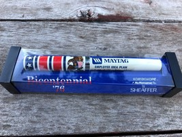 VTG Sheaffer Bicentennial 1976 Kaleidoscope Pen w Advertising for Maytag... - $19.75