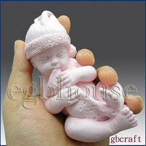 3D Silicone Soap/plaster/clay Mold-Lifelike/Newborn Baby Dell (2 parts mold) - $37.42