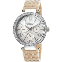 Caravelle 43N102 Women's Beige Plastic Band With Mother Of Pearl Dial Wa... - $37.36