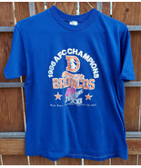 Vtg Denver Broncos 1986 AFC Champions Shirt-Blue-XL-Super Bowl XXI-Footb... - $37.39