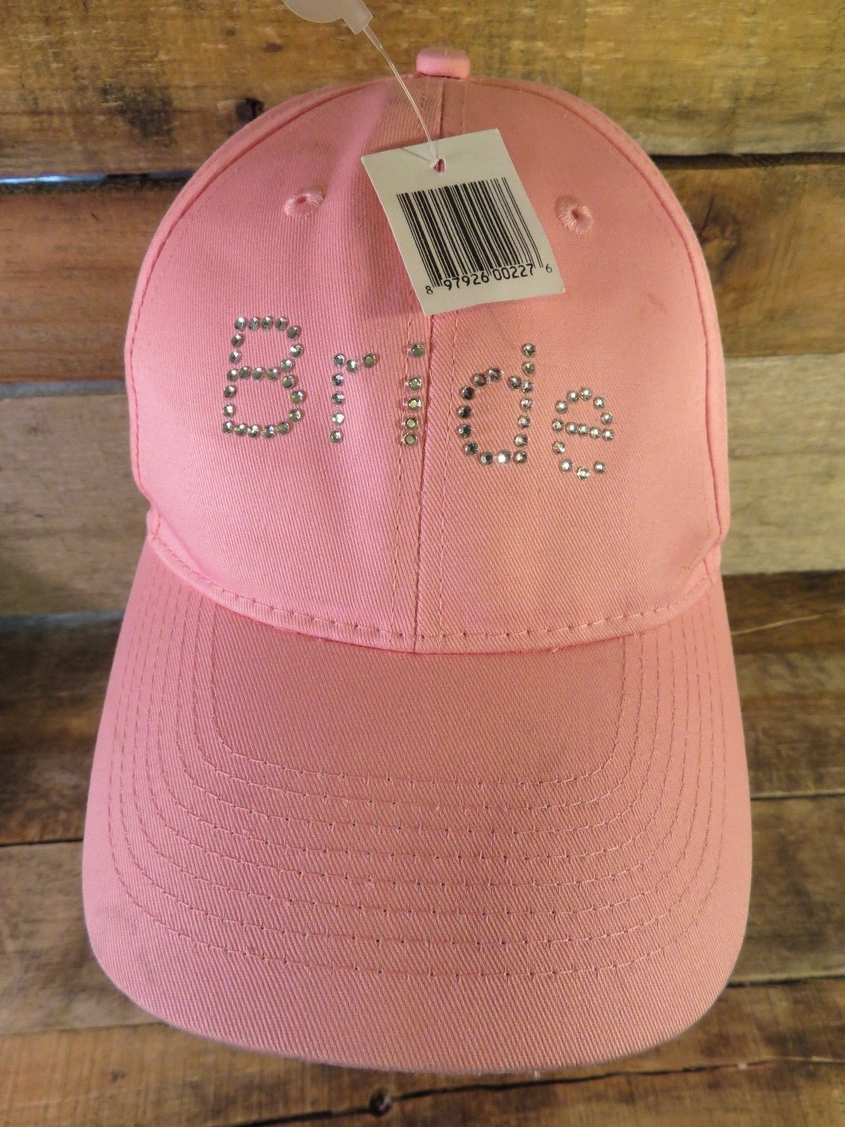 Primary image for BRIDE Pink Beaded Adjustable Adult Hat Cap