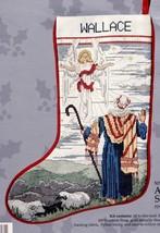 Candamar Angel and Shepherd Nativity Christmas Cross Stitch Stocking Kit 50506 - $132.95