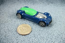 Hot Wheels McDonald's 2009 Mattel Blue Silver & Green Sports Car Made in Vietnam - $1.17