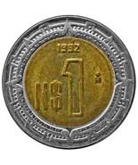 1992 Mexico 1 Peso Actual Photos Shown Lot #C1609 - €3,33 EUR