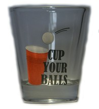 Cup Your Balls Beer Pong Shot Glass Clear Gag Gift Party Gimmick - $0.93