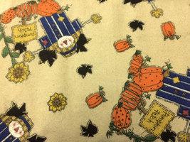 Pumpkin Patch Flannel Print 100% Cotton Fabric Flannel - $10.00