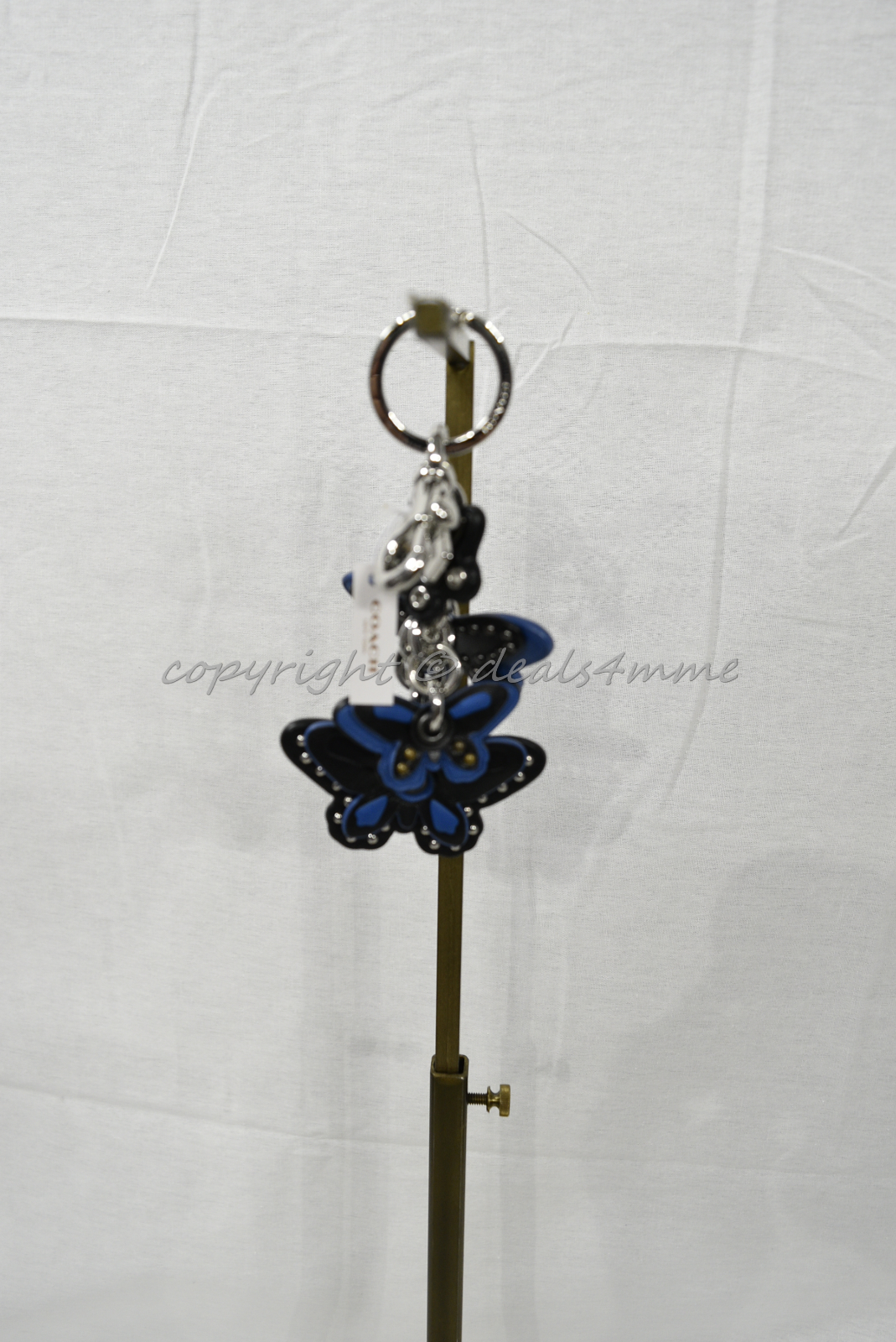 Coach F58996 /F58997 Studded Leather Butterfly Keyring/Key-Clip/ Bag Charm Brown image 6