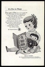 Dolly Phone Baird Marionettes Design BELL Telephone Promo 1957 AD - $14.99