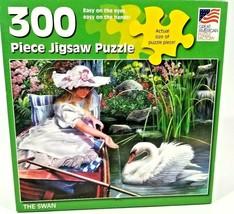 "Great American Puzzle  The Swan 300 Piece Puzzle 19.25"" x 27"" Big pieces - $5.69"