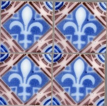Original ca1900 England Pilkingtons Caramel TRIGLIFO GREEK ORDER Majolica tile