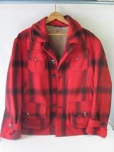 Vtg Profile NH Carter & Churchill Co. Mens L/XL Jacket Wool Red Plaid  H... - $59.35
