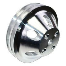 Chevy Small Block Double-Groove Aluminum Long Water Pump Pulley image 8