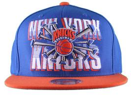 Mitchell & Ness New York Knicks Orange Blue NBA Backboard Breaker Snapback Hat