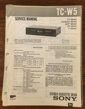 Sony TC-W5 Cassette Service Manual *Original* - $13.08