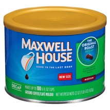 MAXWELL HOUSE ORIGINAL MEDIUM ROAST GROUND COFFEE DECAF 22OZ - $28.00