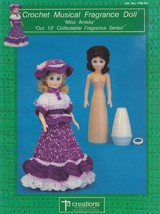 Miss Amelia, Td Creations Crochet Doll Clothes Pattern Booklet FRA-811 - $2.95