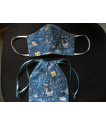 Face Mask & Carry Pouch Bag. 3 Layer Protection. Handmade USA #1 Butterflies - $16.00